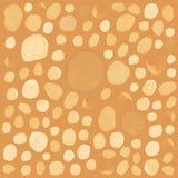 Polka dots pattern yellow gold seamless Stock Photos
