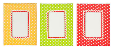 Polka dots photo frame Stock Photo