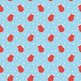 Polka dots pitchers pattern Royalty Free Stock Photos