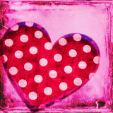 Polka dots red heart Royalty Free Stock Photo