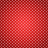 Polka dots red picnic towel background Stock Photo