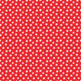 Polka dots red seamless pattern royalty free illustration