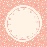 Polka dots round invitation card Stock Image