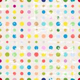 Polka dots. Seamless background pattern, grungy Stock Photos