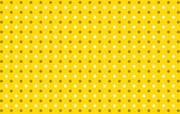 Polka dots seamless pattern background. Plaid fabric cloth wrapped repeat wallpaper small circle yellow vintage backdrop cage dress shirt skirt kilt blanket vector illustration