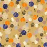 Polka dots seamless pattern Stock Photo