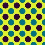 Polka dots seamless pattern. 3d vector background. Retro style print.  stock illustration