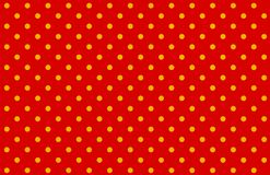 Free Polka Dots Seamless Pattern On Red Background. Royalty Free Stock Images - 164617709