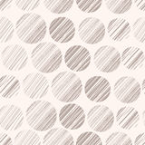 Polka dots seamless pattern. Vector illustration. Template for decoration and design Royalty Free Stock Photos