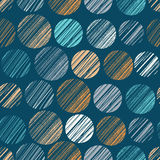 Polka dots seamless pattern. Vector illustration. Template for decoration and design Royalty Free Stock Images