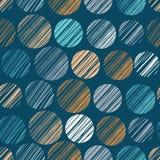 Polka dots seamless pattern Royalty Free Stock Images