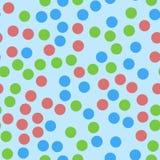 Polka Dots Seamless Texture Reticolo senza giunte Immagine Stock