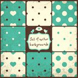 Polka Dots Set. Set of Cute Seamless Vector Patterns with Polka Dots and Hearts royalty free illustration