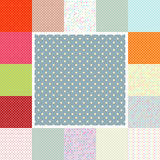 Polka dots set. EPS 10 Royalty Free Stock Image