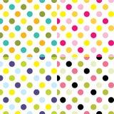Polka dots sets Stock Image