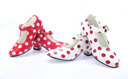 Polka dots Shoes. Royalty Free Stock Images