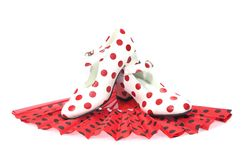 Polka dots Shoes. Stock Photo