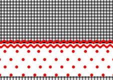 Polka dots stripes Royalty Free Stock Image