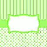 Polka Dots and Stripes Banner Frame vector illustration