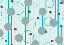 Polka dots stripes emerald Stock Photos