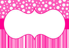 Polka dots and stripes invitation card Royalty Free Stock Photography