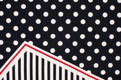 Polka dots and stripes pattern. Stock Images