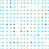 Polka dots vector seamless pattern. Dots of different colors. Stock Photos
