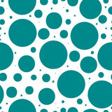 Polka dots vector seamless pattern. Dots of different sizes. Stock Photo
