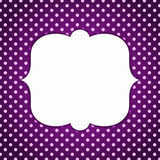 Polka dots vintage dark border frame Royalty Free Stock Images