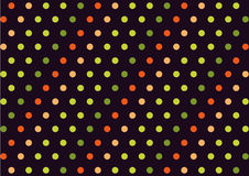 Polka dotted background | Cute colorful pattern fabric decoration modern design Stock Photo