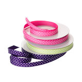 Polka dotted ribbon Stock Images