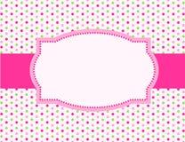 polka för bakgrundsprickram Royaltyfria Bilder