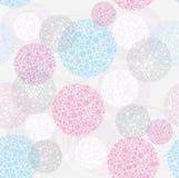 polka för prick för abstrakt bakgrundscirkel seamless gullig Royaltyfria Bilder