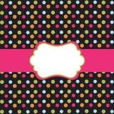polka för designprickram Royaltyfri Bild