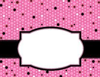 Polka frame background Stock Photo