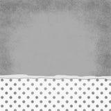 Polka grise et blanche carrée Dot Torn Grunge Textured Background Photos stock
