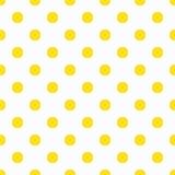 Polka jaune Dot Pattern Photos stock