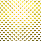 Polka metallica Dot Pattern Hearts White Background dei cuori dell'oro Fotografie Stock Libere da Diritti