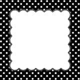 Polka noire et blanche Dot Background avec la broderie illustration libre de droits