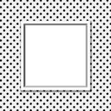 Polka noire et blanche Dot Background avec le cadre Illustration Stock