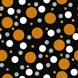Polka orange, blanche et noire Dot Tile Pattern Repeat Background Illustration Libre de Droits