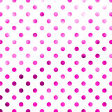 Polka porpora rosa Dot Pattern Digital Paper Fotografia Stock Libera da Diritti