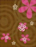 Polka-Punkt-Blumen Lizenzfreie Stockfotos