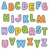 Polka-Punkt Muster-Alphabetset Stockbild