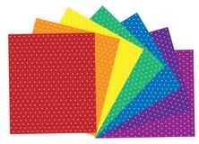 Polka punktierte Materialien Lizenzfreie Stockfotos