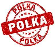 polka rode zegel stock illustratie