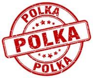 polka rode zegel vector illustratie