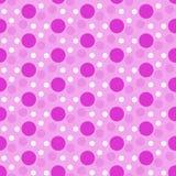 Polka rose et blanche Dot Tile Pattern Repeat Background Image stock