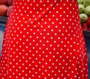 Polka rossa del punto Immagini Stock