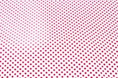 Polka rossa Dots Textile. Immagine Stock Libera da Diritti
